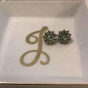 Jewelry - Green mini statement earrings